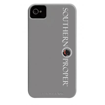 iPhone Case Grey Scrolling Logo